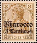 [German Empire Postage Stamps Surcharged - Watermarked, Typ F]