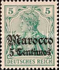 [German Empire Postage Stamps Surcharged - Watermarked, Typ F1]