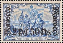 [German Empire Postage Stamps Surcharged - Watermarked, Typ F10]