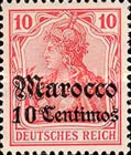 [German Empire Postage Stamps Surcharged - Watermarked, Typ F2]