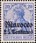 [German Empire Postage Stamps Surcharged - Watermarked, Typ F3]