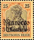 [German Empire Postage Stamps Surcharged - Watermarked, Typ F4]