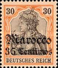 [German Empire Postage Stamps Surcharged - Watermarked, Typ F5]