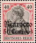 [German Empire Postage Stamps Surcharged - Watermarked, Typ F6]