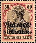 [German Empire Postage Stamps Surcharged - Watermarked, Typ F7]