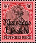 [German Empire Postage Stamps Surcharged - Watermarked, Typ F8]