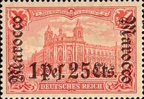 [German Empire Postage Stamps Surcharged - Watermarked, Typ F9]