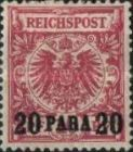 [German Empire Postage Stamps Surcharged, type B1]