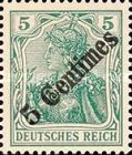 [German Empire Postage Stamps Surcharged, type F]