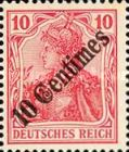 [German Empire Postage Stamps Surcharged, type F1]