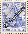 [German Empire Postage Stamps Surcharged, type F2]