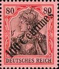 [German Empire Postage Stamps Surcharged, type F4]