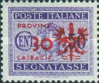 [Italian Postage-Due Stamps Overprinted, type A4]