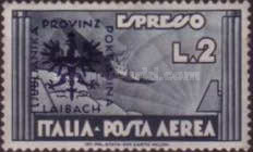 [Italian Express Airmail Stamp Overprinted, type D7]