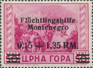 [Charity Stamps - Menoenegro Postage Stamps Overprinted