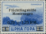 [Refugee Aid - Montenegro Postage Stamps Surcharged & Overprinted