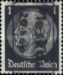 [German Empire Postage Stamp Surcharged & Overprinted in Frame, type B]