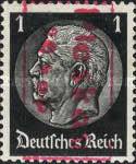 [German Empire Postage Stamp Surcharged & Overprinted in Frame, type B1]