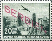 [Airmail - Yugoslavian Postage Stamps Overprinted