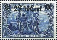 [German Empire Postage Stamps Surcharged, Typ A11]