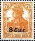[German Empire Postage Stamps Surcharged, Typ A2]