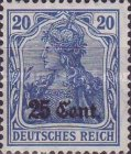 [German Empire Postage Stamps Surcharged, Typ A5]