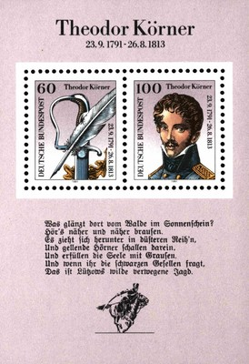 [The 200th Anniversary of the Birth of Karl Theodor Körner, Poet, type ]