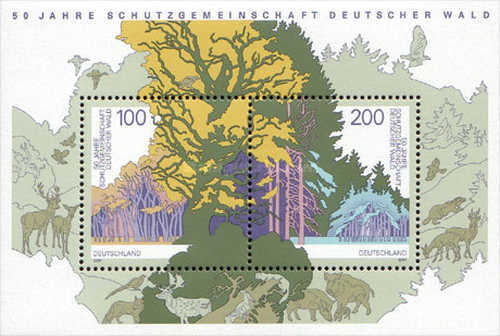 [The 50th Anniversary of the Society of Protection of German Woods, type ]