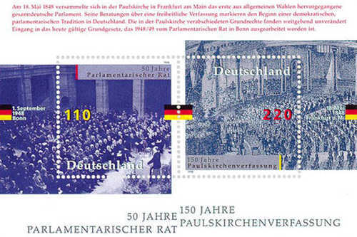 [The 50th Anniversary of The Parliamentarian Council and the 150th Anniversary of the Paul Church Constitution, Typ ]