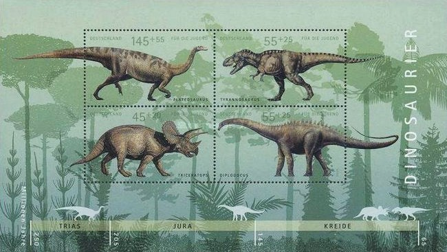 [Youth Philately - Dinosaurs, Typ ]