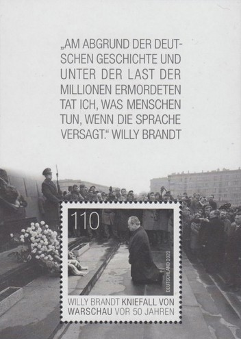 [The 50th Anniversary Since Willy Brandt Kneeled in Warsaw, Typ ]