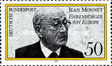 [The Politician Jean Monnet - European Honorary Citizen, Typ AAO]
