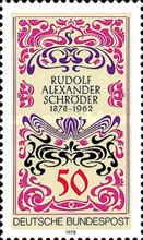[The 100th Anniversary of the Birth of Rudolf Alexander Schröder, type ABS]