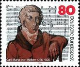 [The 200th Anniversary of the Birth of Carl Maria von Weber, Composer, type ANS]