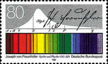 [The 200th Anniversary of the Birth of Josef von Frauenhofer, Optician and Physicist, type AOV]