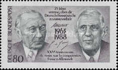[The 25th Anniversary of the German-French Treaty, type AQH]