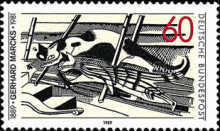 [The 100th Anniversary of the Birth of Gerhard Marck, Lithographic Artist and Sculptor, Typ ASJ]