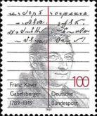 [The 200th Anniversary of the Birth of Franz Xaver Gabelsberger, Stenographer, Typ ASW]