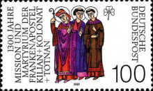[The 1300th Anniversary of the Death of the Apostle Kilian,Kolonat and Totnan, Typ ASX]