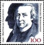 [The 250th Anniversary of the Birth of Matthias Claudius, Poet, Typ AUU]
