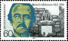 [The 100th Anniversary of the Death of Heinrich Schiliemann, Archaeologist, Typ AVB]