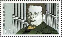 [The 75th Anniversary of the Death of Max Reger, Composer, type AXA]