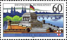 [The 2000th Anniversary of Koblenz, type AZC]