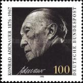 [The 25th Anniversary of the Death of Dr.Konrad Adenauer, Federal Chancellor, type AZV]