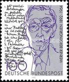 [The 100th Anniversary of the Birth of Werner Bergengruen, Writer, type BAX]