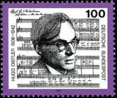 [The 50th Anniversary of the Death of Hugo Distler, Composer and Conductor, type BBF]