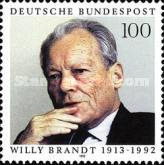 [The 80th Anniversary of the Birth of Willy Brandt, Politician, type BDW]