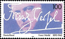 [The 50th Anniversary of the Death of Franz Werfel, Writer, Typ BHZ]