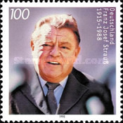 [The 80th Anniversary of the Birth of Franz Josef Strauss, Politician, Typ BIE]
