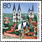 [The 1000th Anniversary of the Cathedral Square in Halberstadt, type BJG]